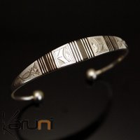 Ethnic Bracelet Sterling Silver Jewelry Large Ebony Men/Women Tuareg Tribe Design 05