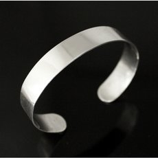 Ethnic Bracelet Sterling Silver Jewelry Flat Smooth Men/Women Tuareg Tribe Design 03