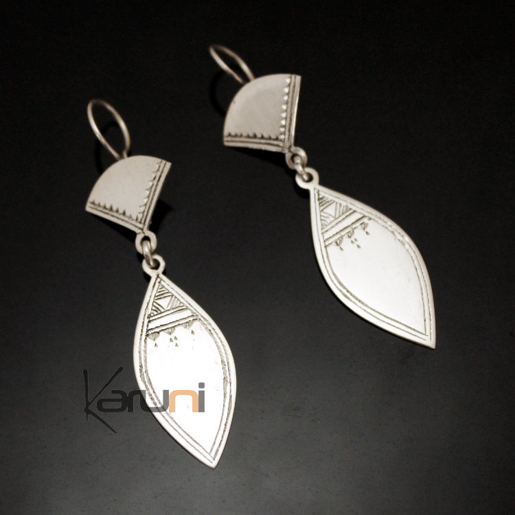 Details about  /Tuareg Earrings Tribal African Jewelry Handcrafted Traditional