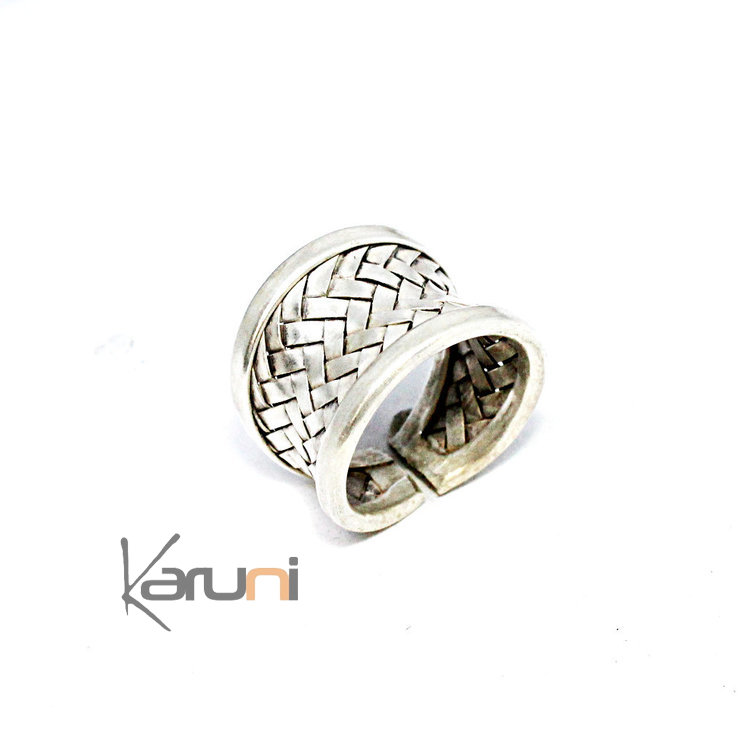 Sterling Silver Ring Braided Silver 1129