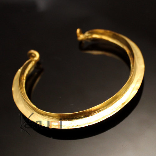Mali Fulani Bracelet Leaf Traditional Gilded Bronze 10