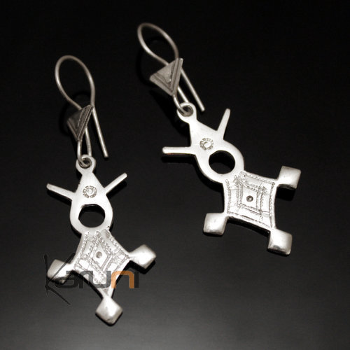 Tuareg Earring Southern Agadez in Silver 45