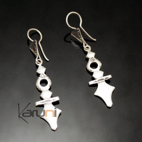 Tuareg Earrings Southern Zinder in Silver 49