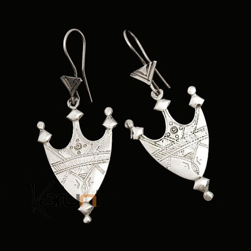 Tuareg Earrings Southern Nigerian Camel Saddle in Silver 51