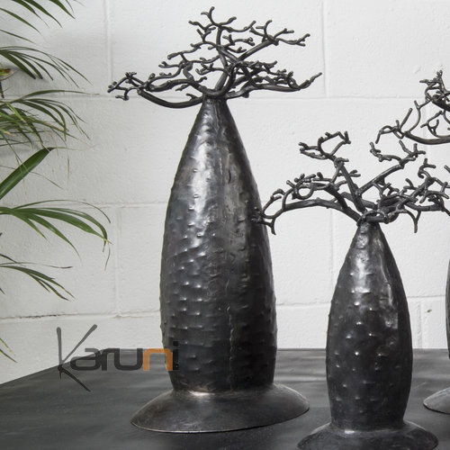 Jewelry Tree Baobab design jewelry holder 40/45 cm recycled metal Madagascar