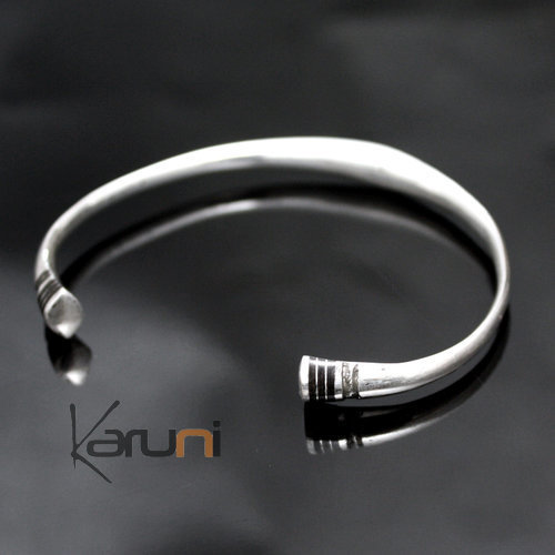 Tuareg Ethnic Jewelry Silver Bracelet Man / Woman / Child TAYRI 04 - KARUNI