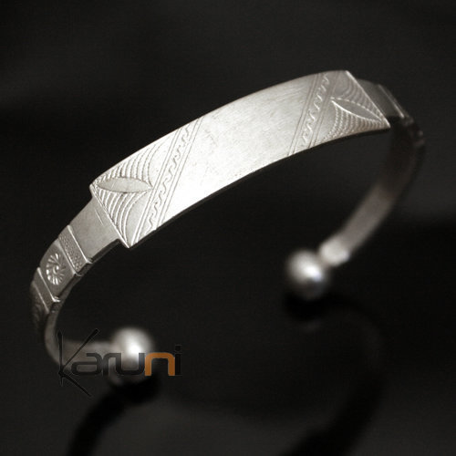 African Chain Bracelet Ethnic Jewelry Silver 750 Mauritania Men/Women Tuareg Tribe Design 01