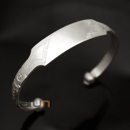 African Chain Bracelet Ethnic Jewelry Silver 750 Mauritania Men/Women Tuareg Tribe Design 02