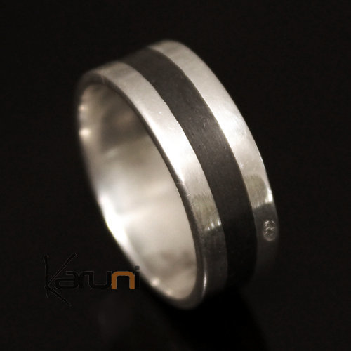 Silver Ebony Ring