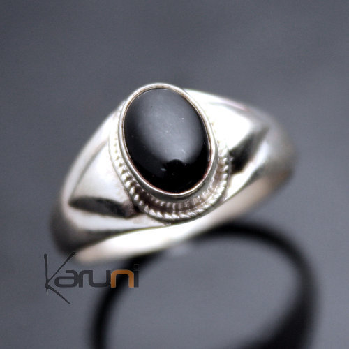 Nepalese Silver back onyx Ring