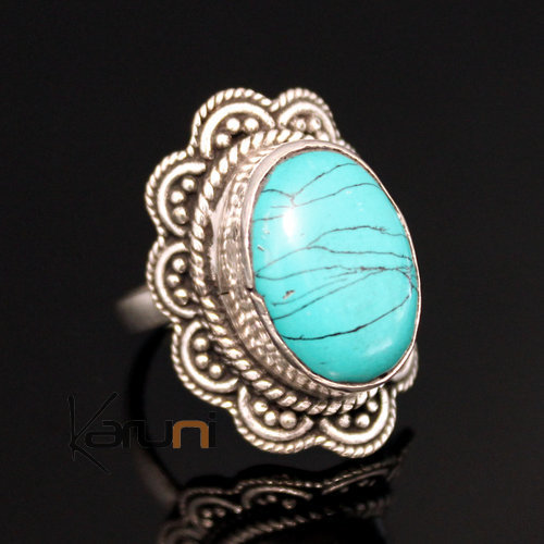 jewelry ethnical silver plated ring