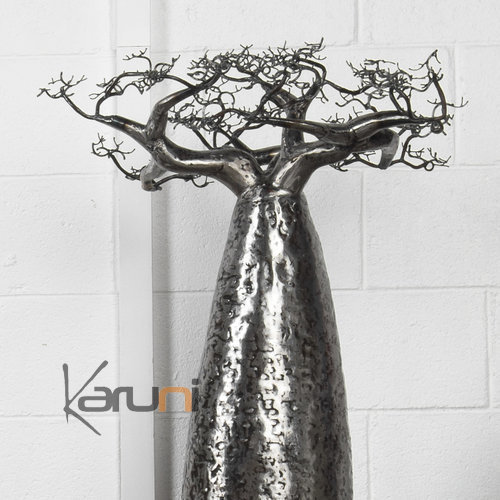 Jewelry Tree Baobab design jewelry holder 35-40 cm recycled metal Madagascar