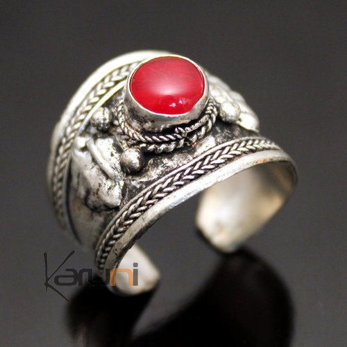 jewelry ethnical silver ring 54