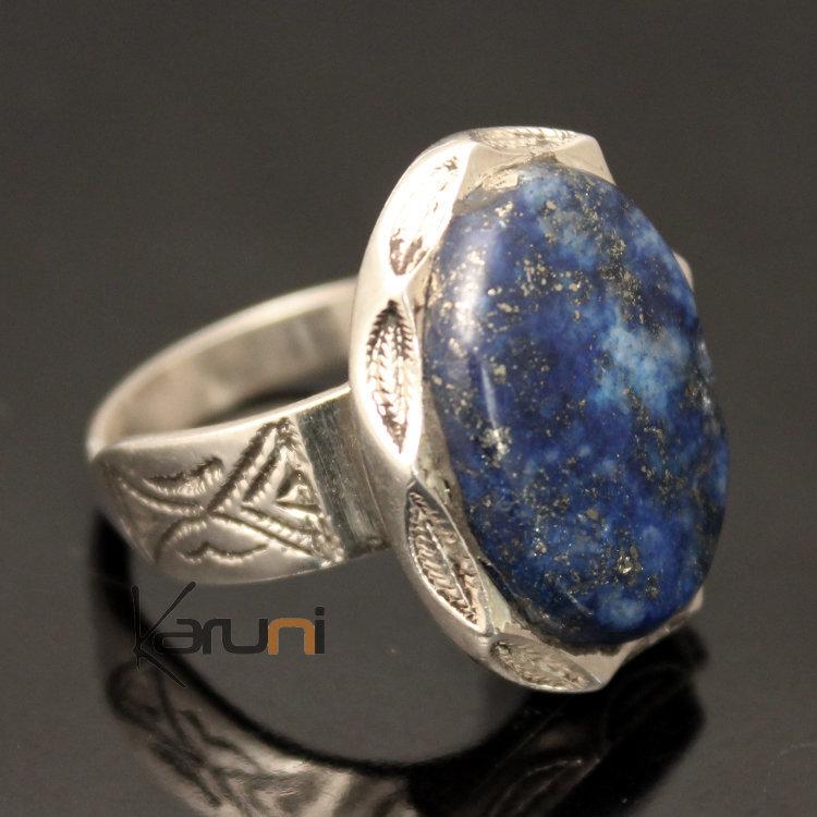 428f88bd5da78 African Ring Lapis Lazuli Sterling Silver Ethnic Jewelry Oval Men/Women  Tuareg Tribe Design 12