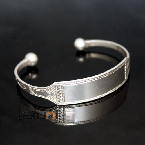 Ethnic Chain Bracelet Silver Jewelry Large Men/Women Tuareg Tribe Design 04
