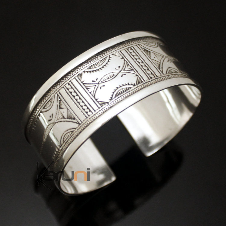 ethnic-wide-bracelet-sterling-silver-jewelry-large-flat-engraved-men-women -tuareg-tribe-design-04.jpg 5da257a37b