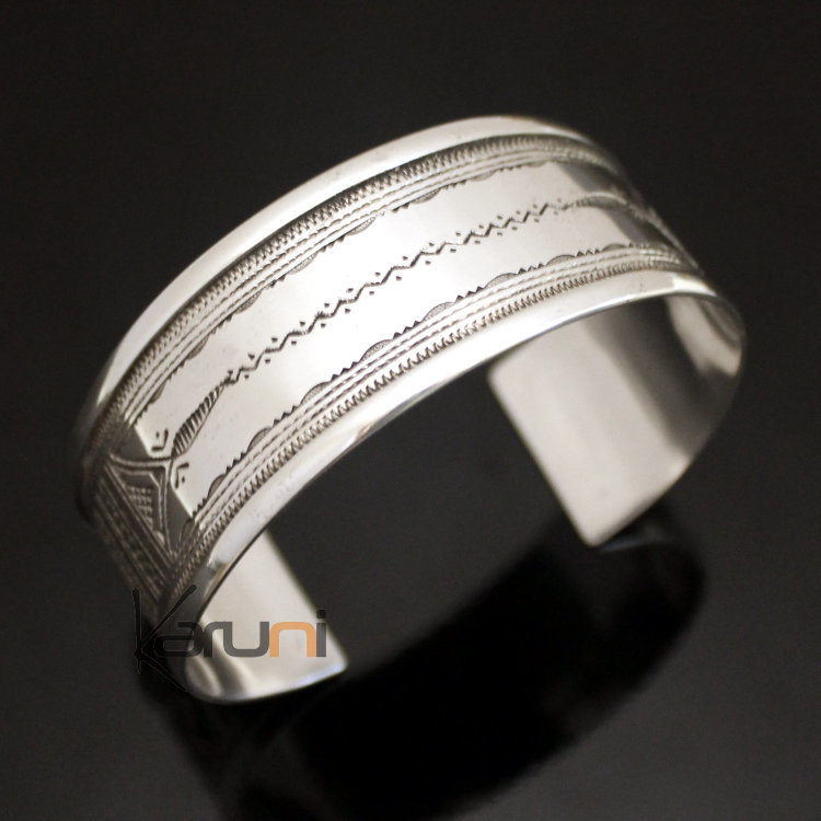 ethnic-wide-bracelet-sterling-silver-jewelry-large-flat-engraved-men-women -tuareg-tribe-design-05.jpg 4c27e459dc