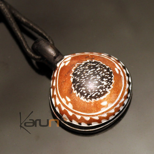 Ethnic Tuareg Jewelry Necklace Pendant Soap Stone Engraved 57 Niger Drop