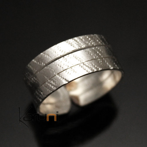 Adjustable silver plated ring 28