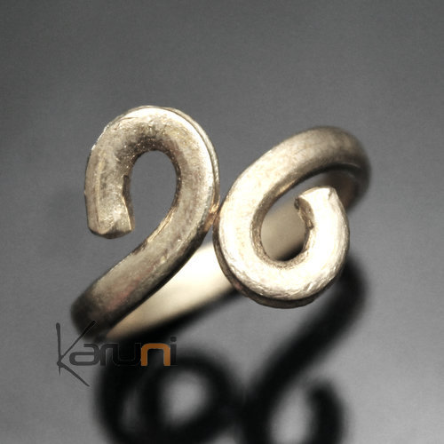 Adjustable Plated Silver Fulani Ring 30