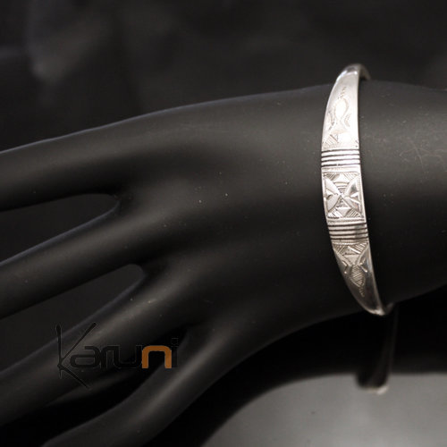Ethnic Bracelet Sterling Silver Jewelry Large Ebony Men/Women Tuareg Tribe Design 07