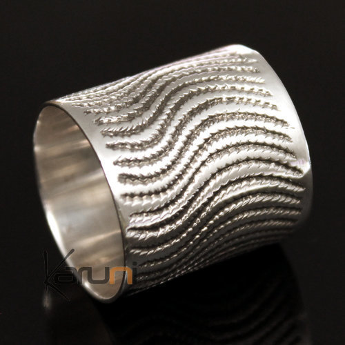 Exceptional Ring Alliance Silver Waves Man / Woman 03