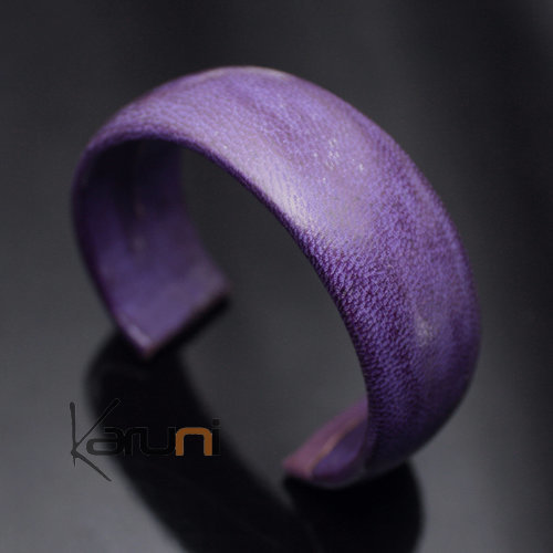 Ethnic Leather Bracelet Jewelry Large Purple Tuareg Tribe Design 11