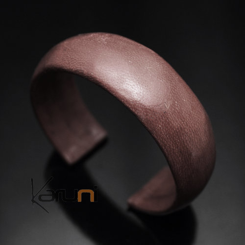 Ethnic Leather Bracelet Jewelry Large Dark Brown Tuareg Tribe Design 17