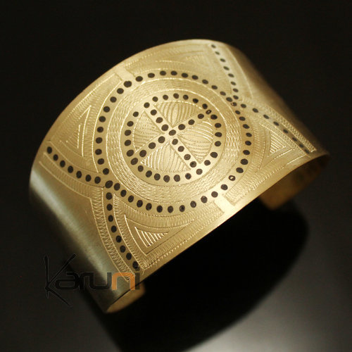African Cuff Bracelet Ethnic Jewelry Bronze Engraved Mauritania 19