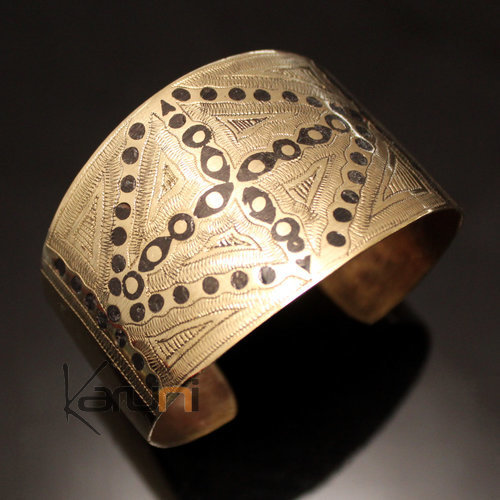 African Cuff Bracelet Ethnic Jewelry Bronze Engraved Mauritania 21