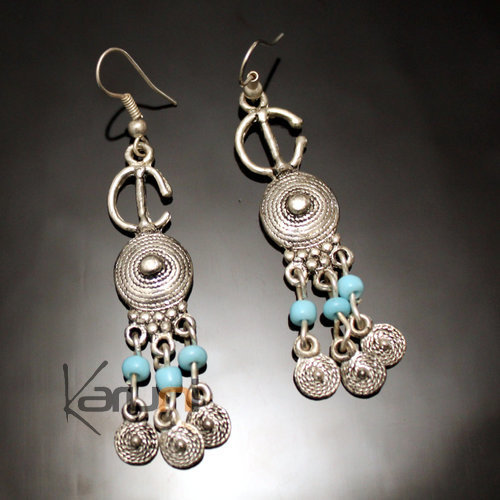 Berber Blue Spirals Earrings