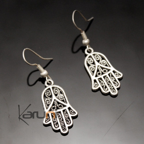 Berber Fatma's Hand Earrings