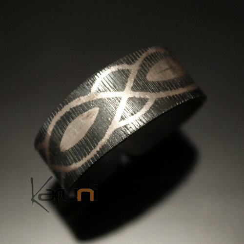 Berber Silver and Steel Ring 03