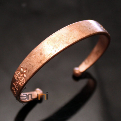 Fulani Jewelry Bracelet Bangle Traditional Golden Bronze Ethnic Large Leaf African Inspired Jewels 01