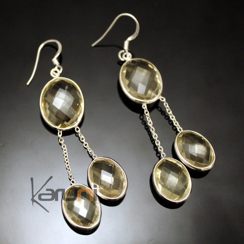 Citrine Indian Earrings 31