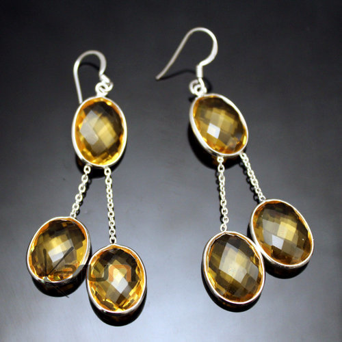 Indian Yellow quartz Earrings 32