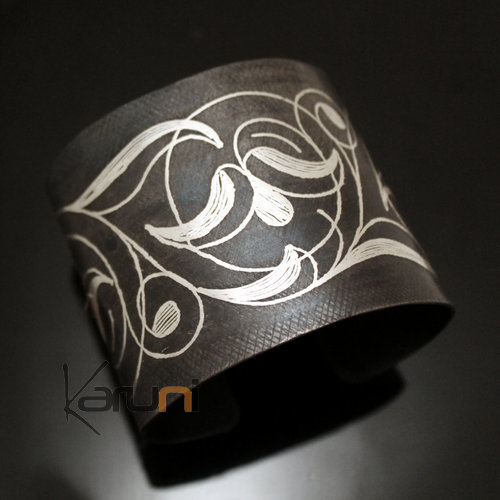 Berber Sliver and Steel Cuff Bracelet