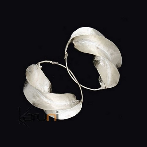 Fulani Hoops 0,78 inches silver bath