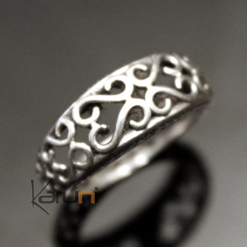 Alliance Ring in Sterling Silver 925 India 1004 Man / Woman Filigranes