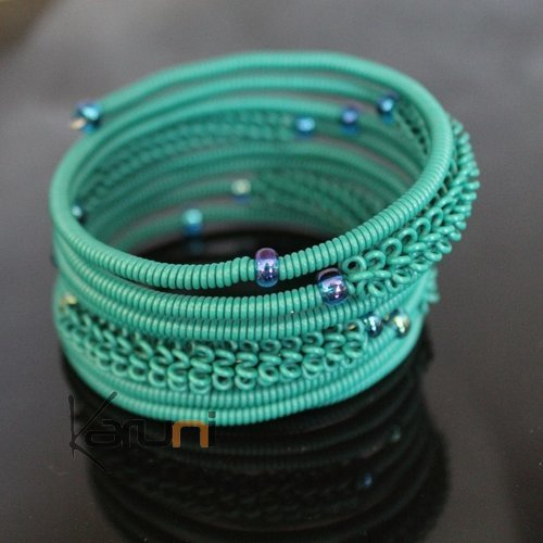 Tribal Jewelry Bracelet Bangles Fashion Spiral Zulu African Design Telephone Wire Mahatsara 5 cm