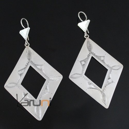 Nigerian Silver Earrings 166