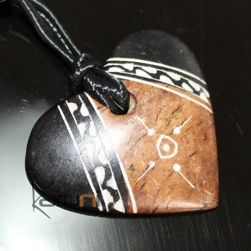 Ethnic Tuareg Jewelry Necklace Pendant Soap Stone Engraved 101