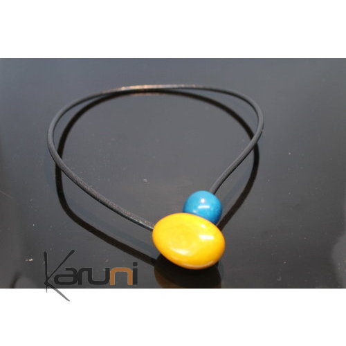 Necklace Seeds Beads Organic Ivory Tagua yellow