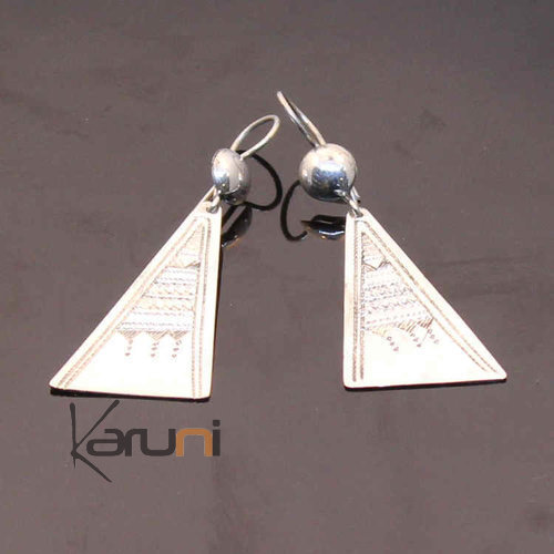 Engraved sterling silver earrings 25