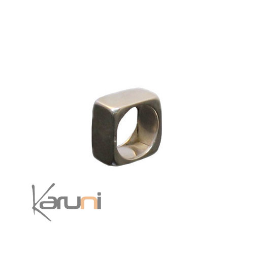 Square Exclusive Silver Ring - KARUNI