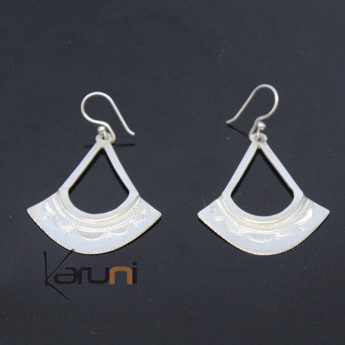 Malian Exclusive Silver Earrings Fan 2