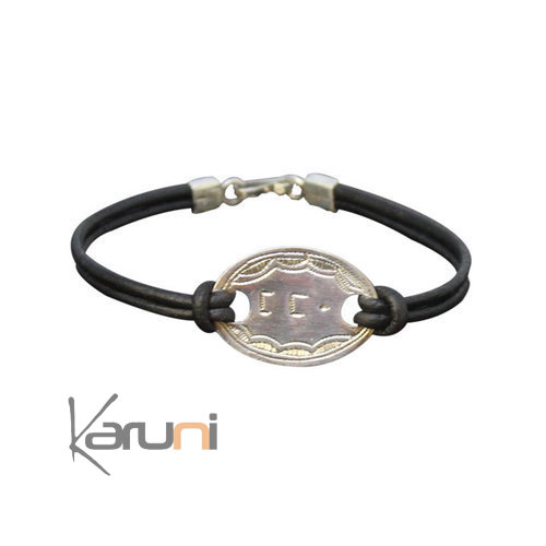 Leather Silver Bracelet Mom Tifinagh