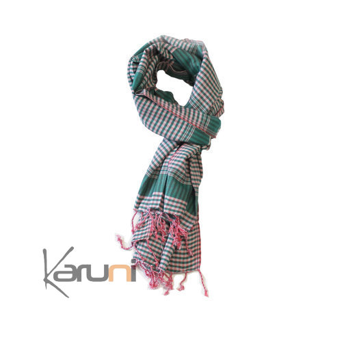 Scarf Stole Krama Cotton Cambodia Design Men/Women Strips Stripped160x48 cm