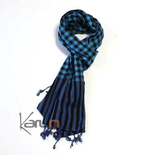 Scarf Stole Krama Cotton Cambodia Design Men/Women Big Checks Plaid Bassac 190x50 cm