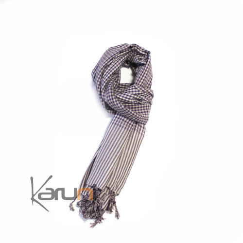 Scarf Stole Krama Cotton Cambodia Design Men/Women Big Checks Plaid Bassac 180x50 cm